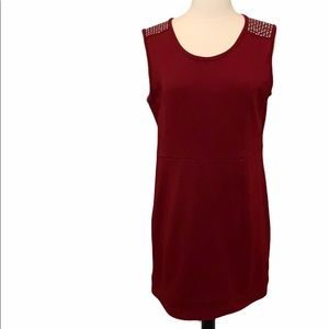Theme Maroon Dress with Silver Stud Detail